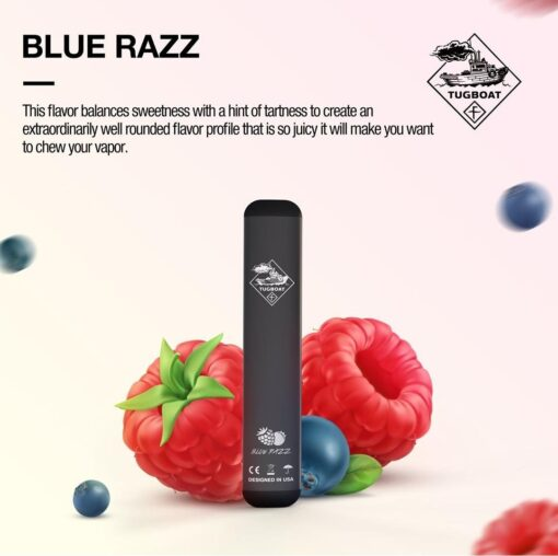 Blue Razz by Tugboat Disposable -V2 (pack of 3)