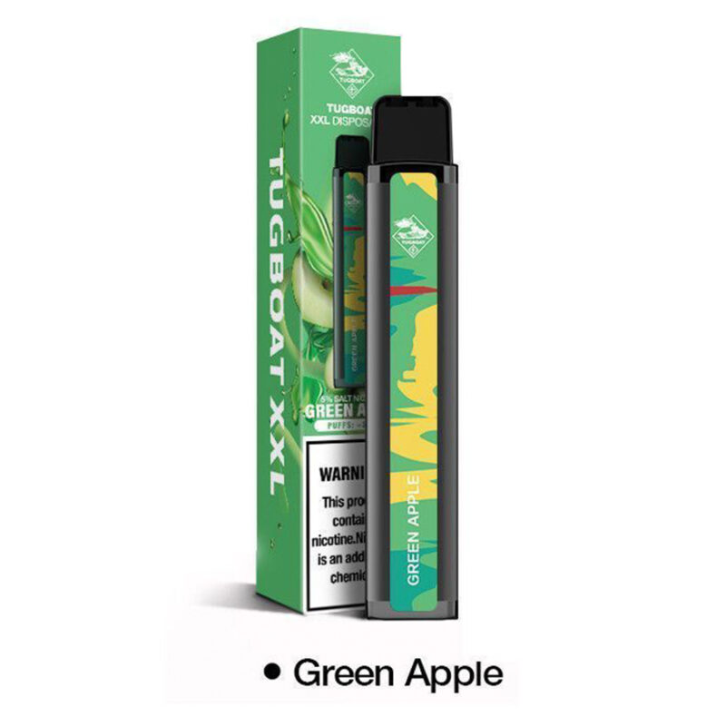 Tugboat XXL Green-Apple Disposable 2500 Puffs